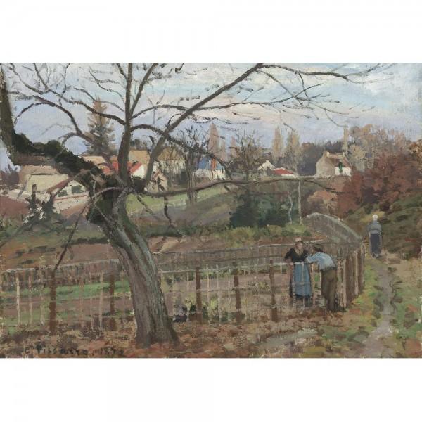 Spotkanie przy ogrodzeniu, Pissarro - Sklep Art Puzzle