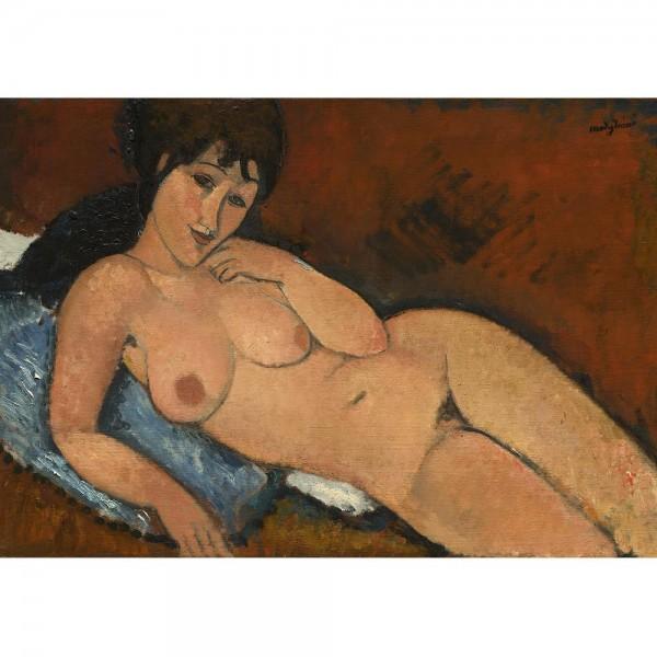 Akt na niebieskiej poduszce, Modigliani - Sklep Art Puzzle