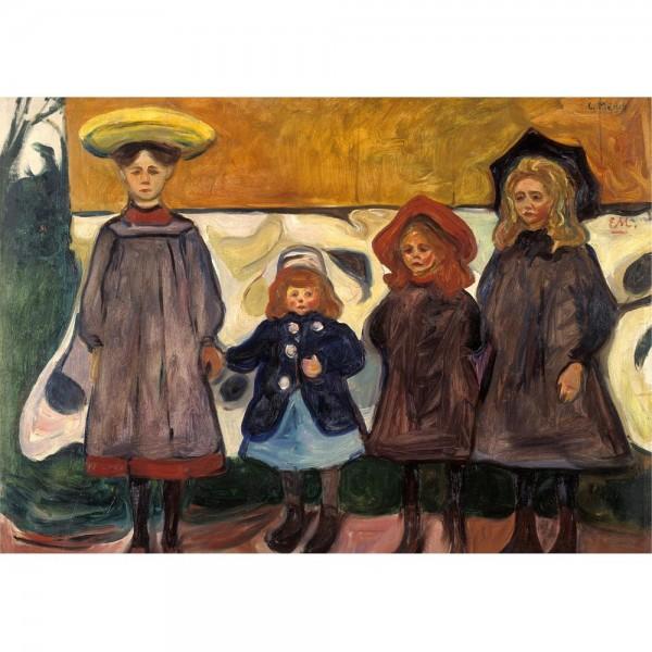 Cztery dziewczynki, Munch - Sklep Art Puzzle
