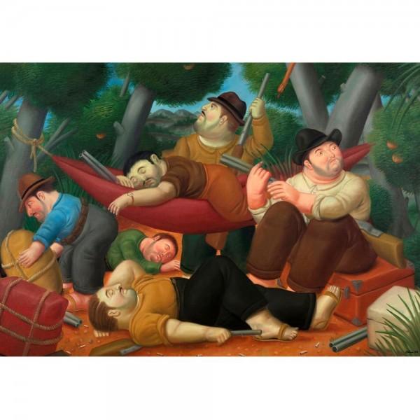 Myśliwi, Botero - Sklep Art Puzzle