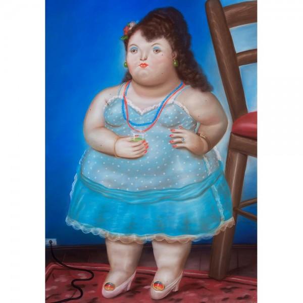 Kobieta w sukience, Botero - Sklep Art Puzzle