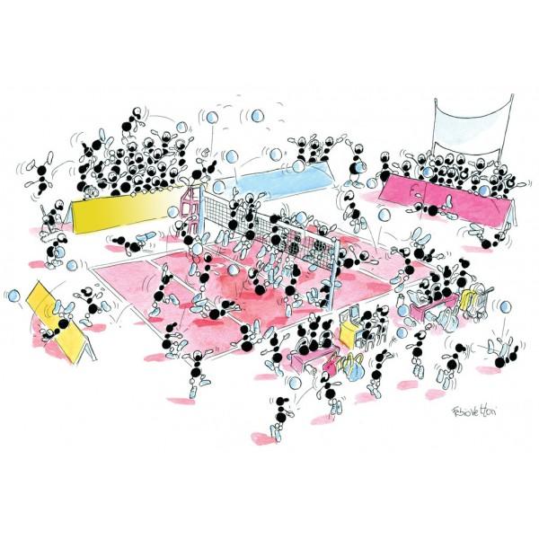 Mrówki grają w siatkówkę - Sklep Art Puzzle