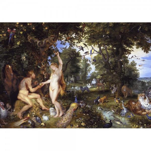 Raj i grzech pierworodny, Jan Brueghel (Starszy), Rubens  - Sklep Art Puzzle