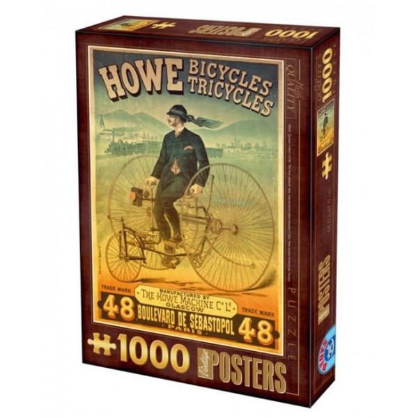 Plakaty, Reklama fabryki rowerów HOWE - Sklep Art Puzzle