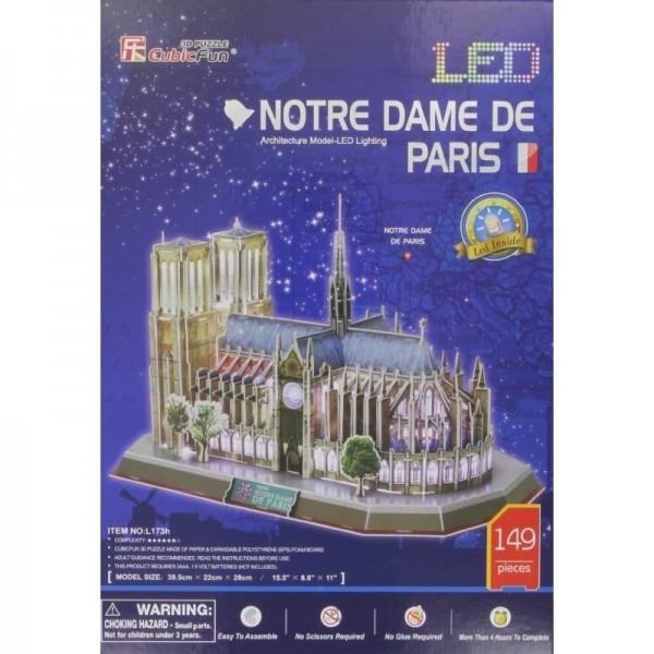 Paryż, Katedra Notre Dame- Led (3d) - Sklep Art Puzzle