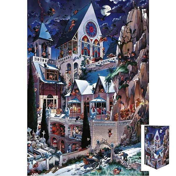 Straszny zamek ( Puzzle+plakat ) - Sklep Art Puzzle