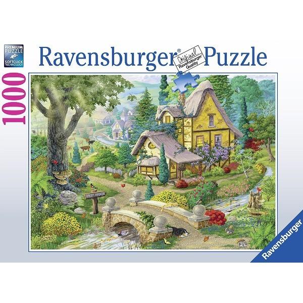 Wiejski domek nad rzeką - Sklep Art Puzzle