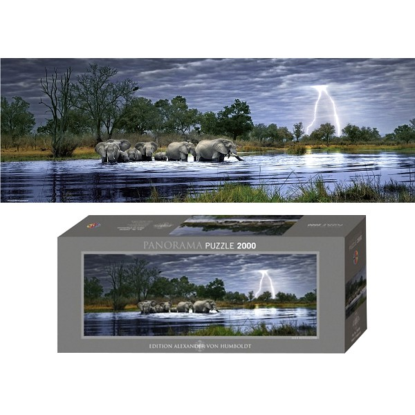 Afryka, Stado słoni - Sklep Art Puzzle