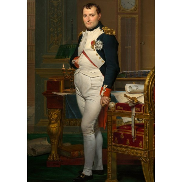 Cesarz Napoleon w Tuileries, Jacques-Louis David, 1812 (1000el.) - Sklep Art Puzzle