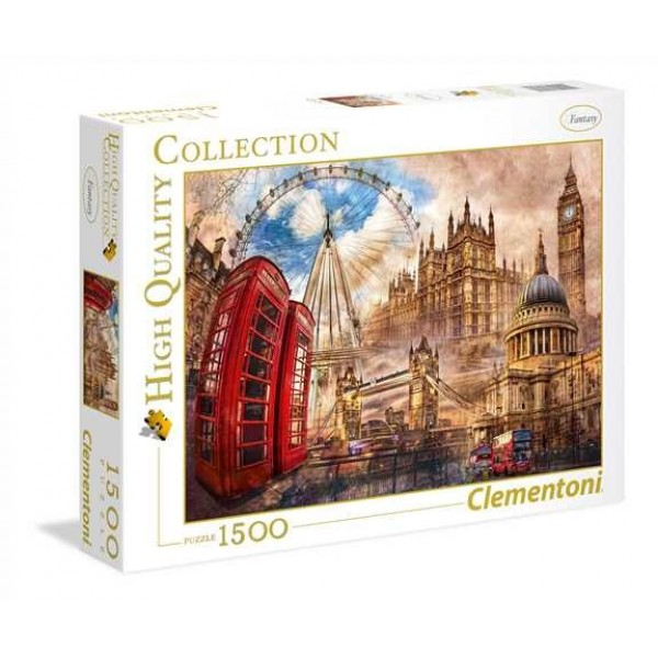 Vintage London - Sklep Art Puzzle