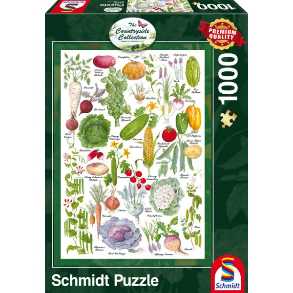 Countryside Collection- Ogród warzywny - Sklep Art Puzzle
