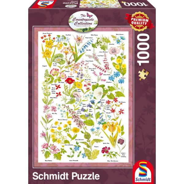 Countryside Collection- Dzikie kwiaty - Sklep Art Puzzle