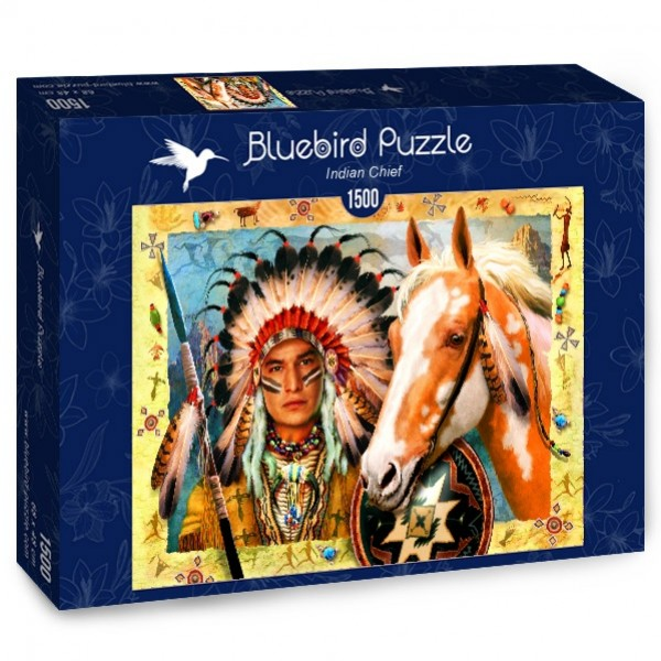 Wódz Indian, Howard Robinson (1500el.) - Sklep Art Puzzle