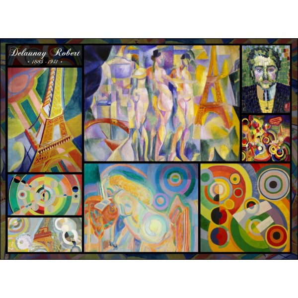 Collage, Robert Delaunay (2000el.) - Sklep Art Puzzle