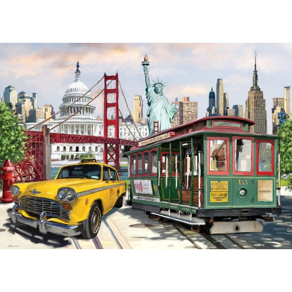Collage-Ameryka (2000el.) - Sklep Art Puzzle