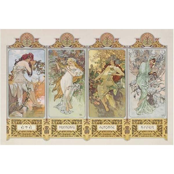 Cztery sezony, Alfons Mucha (1000el.) - Sklep Art Puzzle