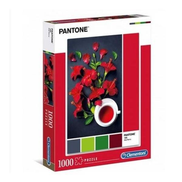 Pantone-Czerwony hibiskus (1000el.) - Sklep Art Puzzle
