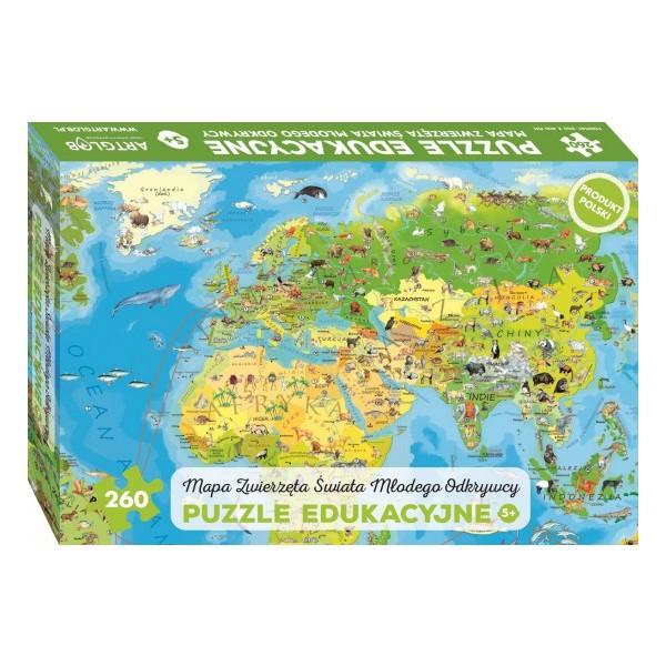 Zwierzęta Świata Młodego Odkrywcy - Sklep Art Puzzle