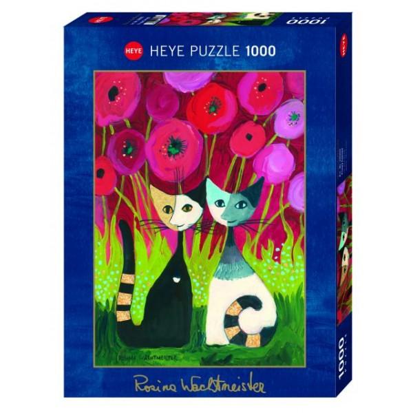 Szczęśliwa para kotów, Rosina Wachtmeister (metalizowane) - Sklep Art Puzzle