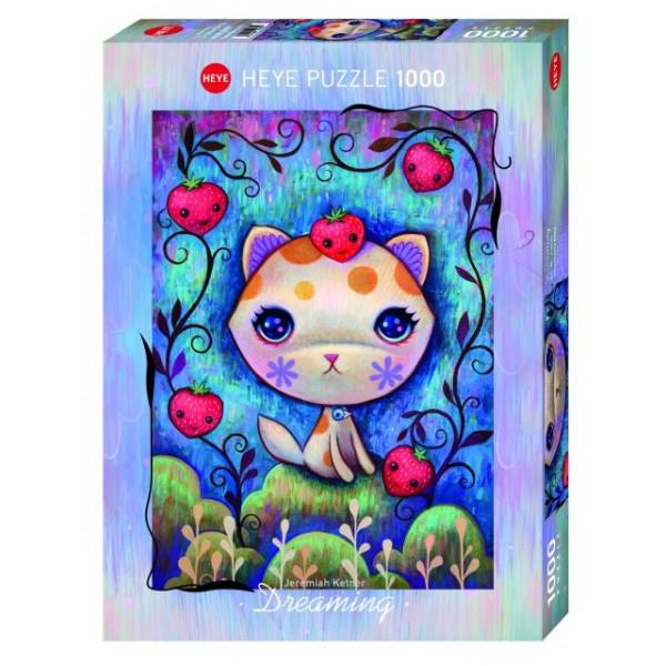 Truskawkowa Kitty, Ketner (1000el.) - Sklep Art Puzzle