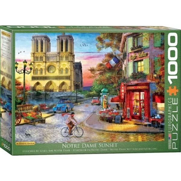 Katedra Notre Dame o zachodzie słońca, Davison (1000el.) - Sklep Art Puzzle