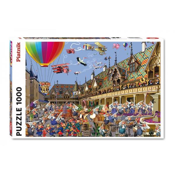 Aukcja wina, Ruyer (1000el.) - Sklep Art Puzzle