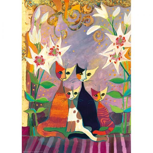 Kotki i lilie ( metalizowane), Wachtmeister Rosina - Sklep Art Puzzle