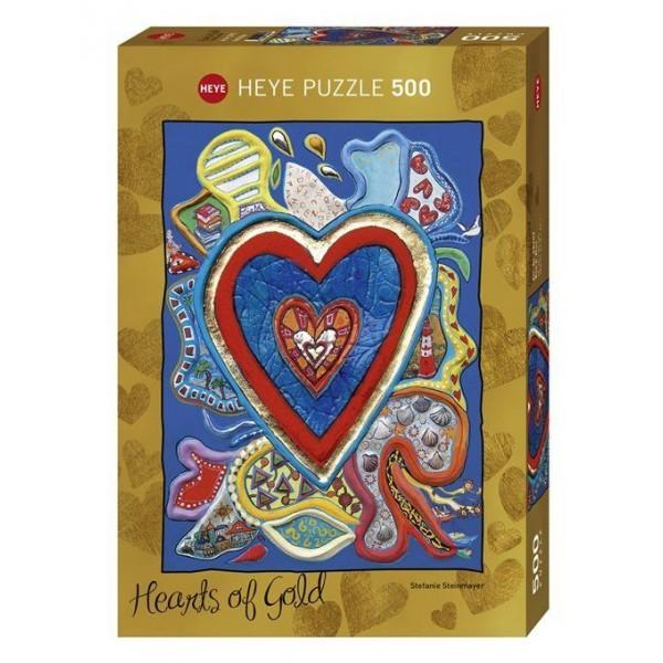 Kolorowe serca ( puzzle metalizowane) - Sklep Art Puzzle