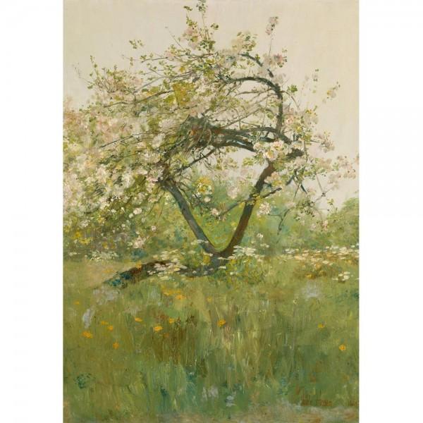 Kwitnące drzewo brzoskwini, Hassam - Sklep Art Puzzle