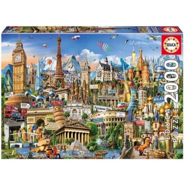 Symbole Europy (2000el.) - Sklep Art Puzzle