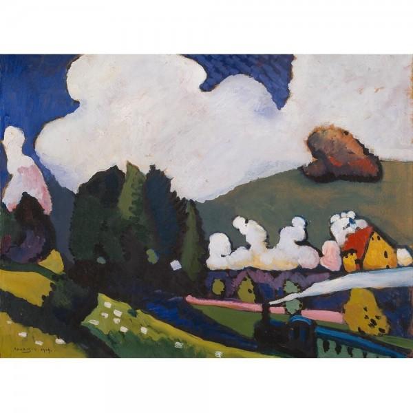 Krajobraz w pobliżu Murnau, Kandinsky (2000el.) - Sklep Art Puzzle