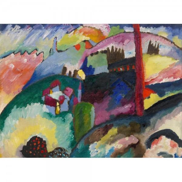 Krajobraz z widokiem na fabrykę w Chimney, Kandinsky (2000el.) - Sklep Art Puzzle