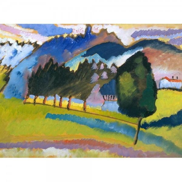 Krajobraz z widokiem na góry, Kandinsky (2000el.) - Sklep Art Puzzle