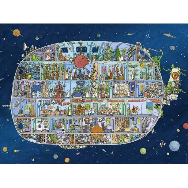 Statek kosmiczny, Adolfsson (Puzzle+plakat) - Sklep Art Puzzle
