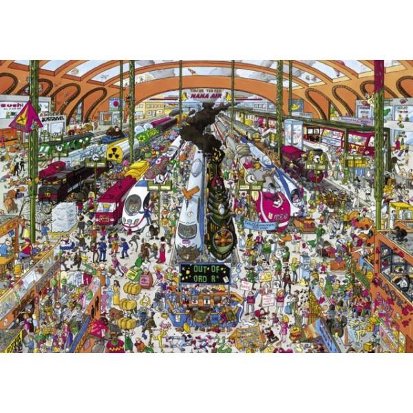 Dworzec kolejowy, Schone(Puzzle+plakat) - Sklep Art Puzzle