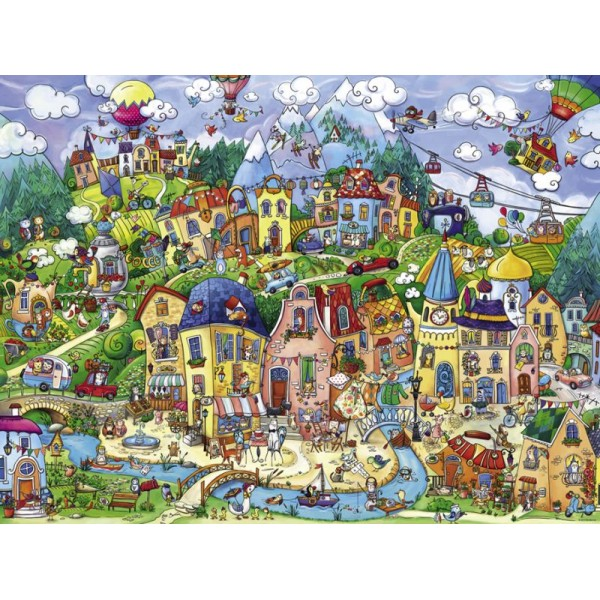 Szczęśliwe miasto (Puzzle+plakat),  Rita Berman - Sklep Art Puzzle