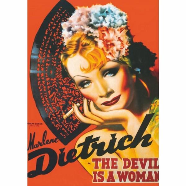 Plakaty-Marlena Dietrich - Sklep Art Puzzle