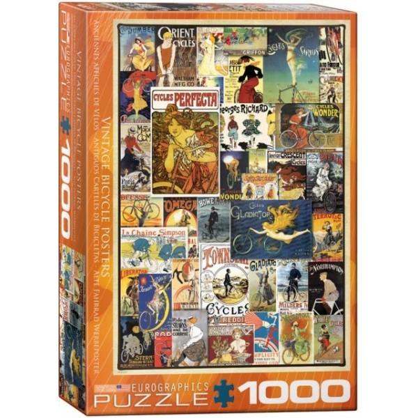Stare plakaty- Rowery (1000el.) - Sklep Art Puzzle