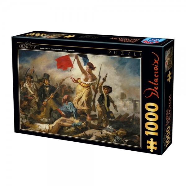 Wolność prowadząca ludzi na barykady, Delacroix - Sklep Art Puzzle