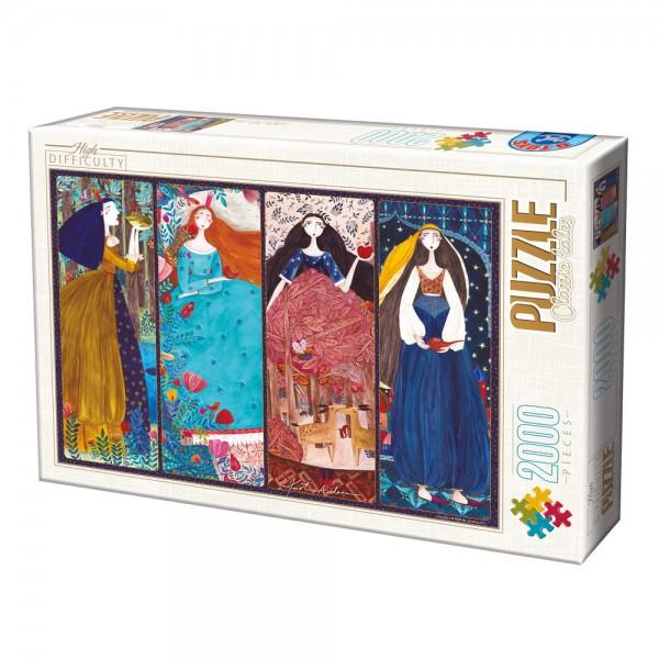 Cztery księżniczki, Kurti - Sklep Art Puzzle
