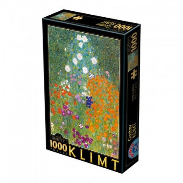 Kwiaty w ogrodzie, Klimt - Sklep Art Puzzle