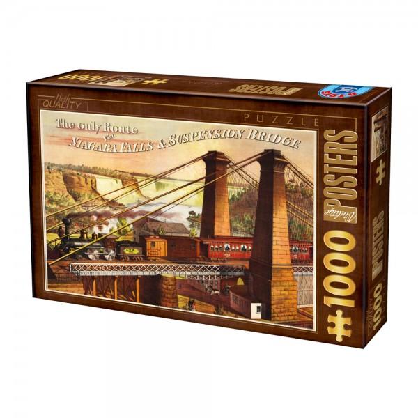 Plakat, Pociąg na moście - Sklep Art Puzzle
