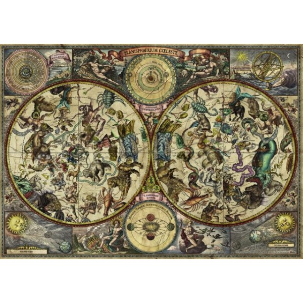 Niebiańska mapa (Puzzle+plakat), Rajko Zigic - Sklep Art Puzzle