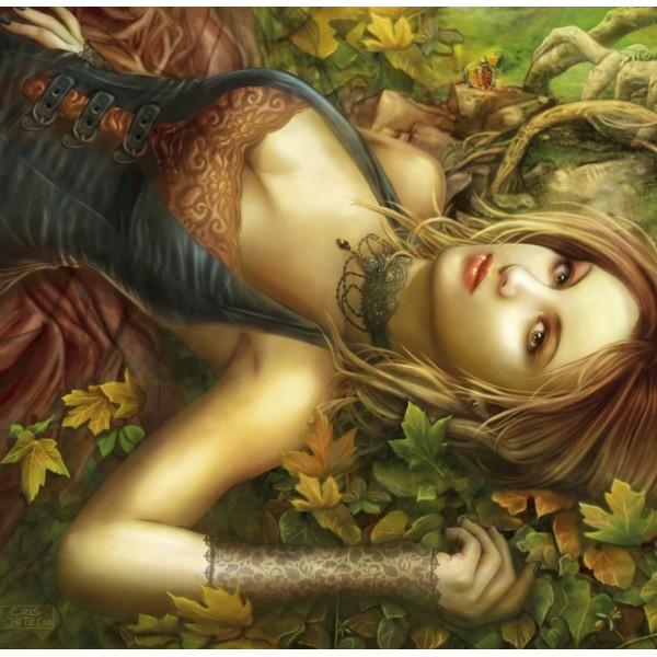 Cris Ortega, Piękność pośród liści (1500el.) - Sklep Art Puzzle