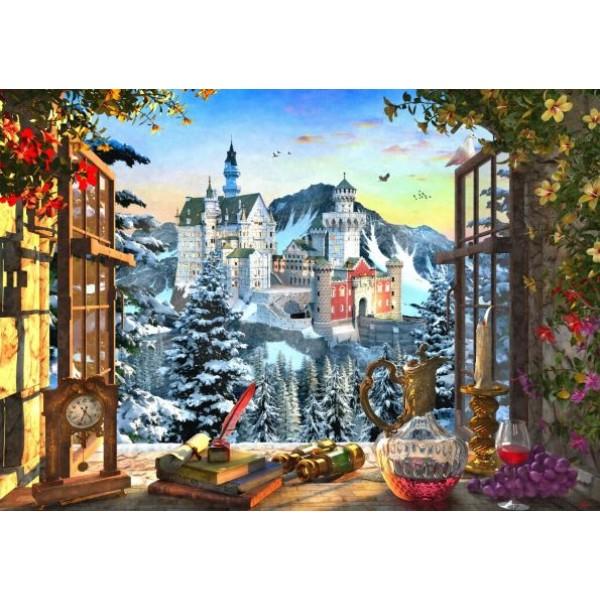 Okno z widokiem na zamek, Dominic Davison (1000el.) - Sklep Art Puzzle
