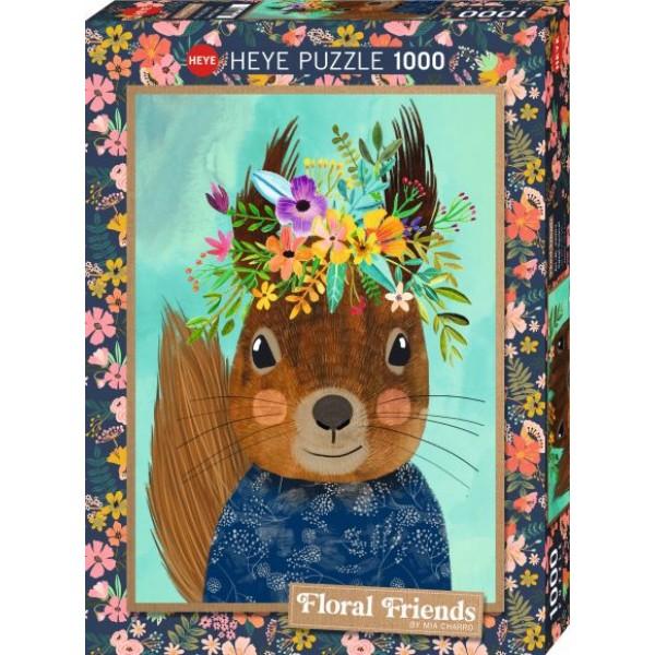 Floral Friends, Wiewiórka, Mia Charro (1000el.) - Sklep Art Puzzle