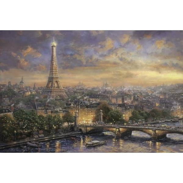 Paryż-Miasto miłości, Kinkade - Sklep Art Puzzle
