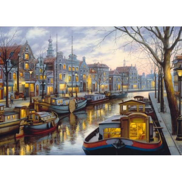 Spacer wzdłuż kanału, Lushpin - Sklep Art Puzzle