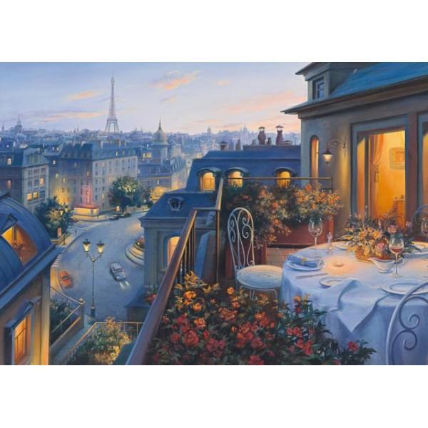 Romantyczny wieczór w Paryżu, Lushpin - Sklep Art Puzzle