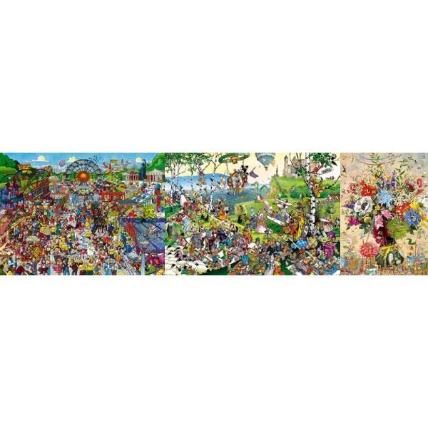 Zestaw-3 x puzzle humorystyczne HEYE - Sklep Art Puzzle